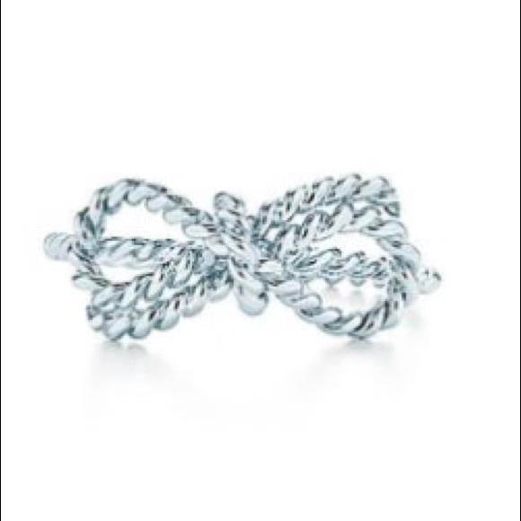 d3cb7f2a6d845 Tiffany & Co Twist Bow Ring NEW Size 4 NWT
